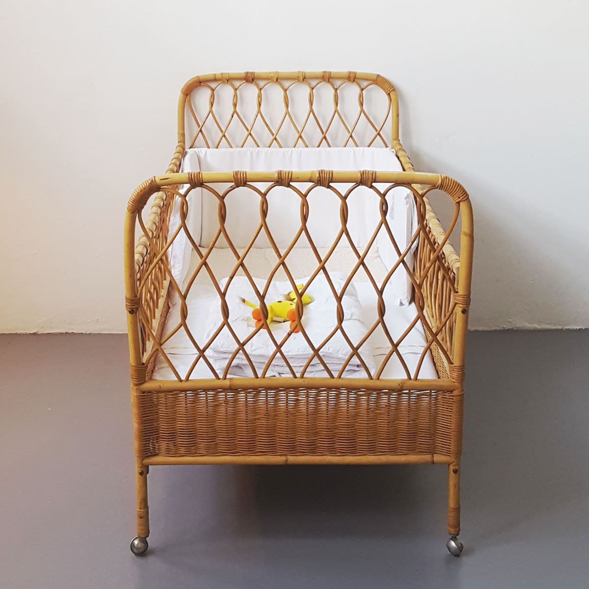 Vintage Rattan Baby Cot Old Is The New New