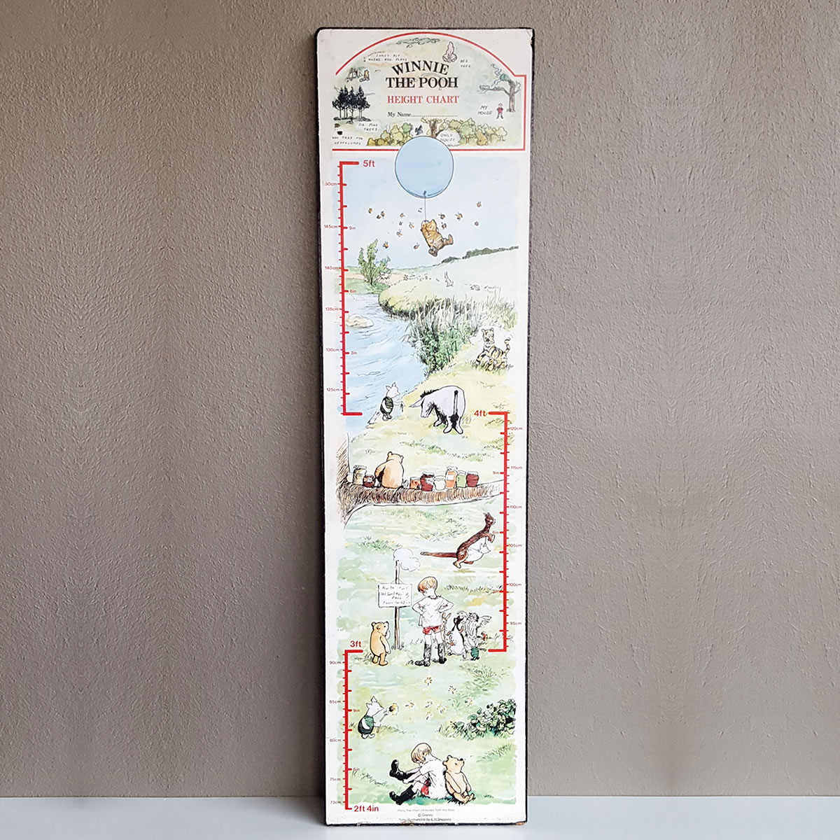 Winnie the pooh vintage wooden wall growth chart old is the new new wall growth chart winnie the pooh metervintage accessories kids cape town geenschuldenfo Image collections