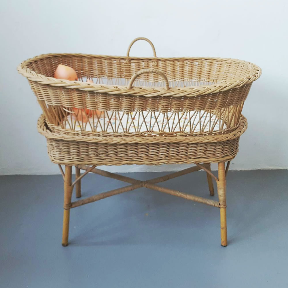 Vintage Wicker Bassinet Old Is The New New