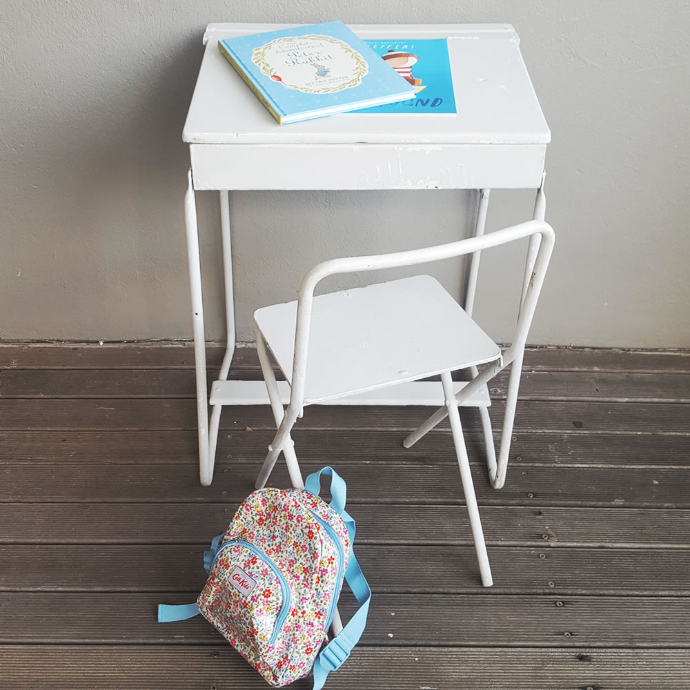 Vintage Kids Metal Desk