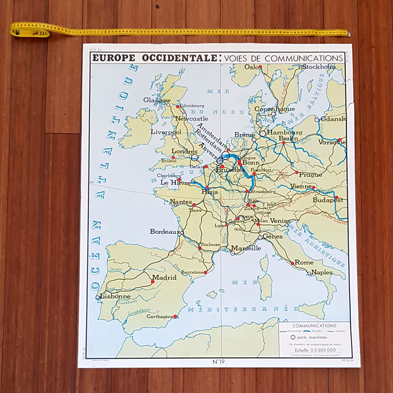 Map Of Western France.Double Sided French School Map Western Europe Old Is The New New