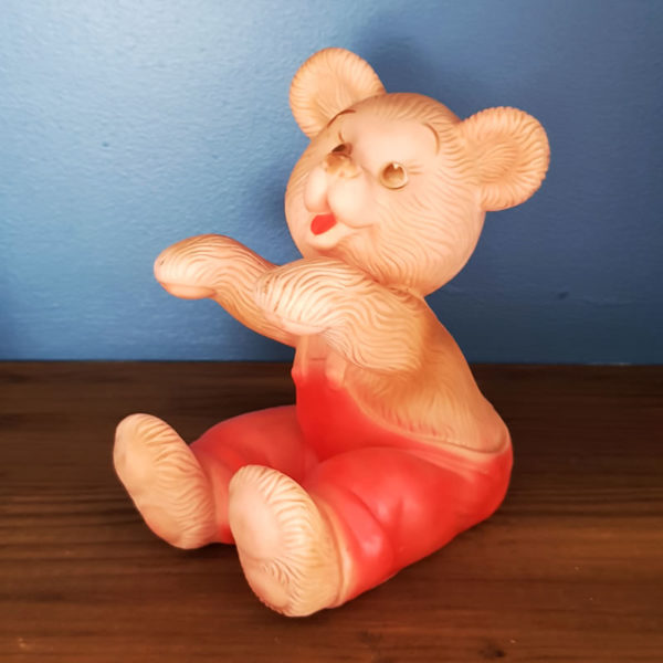 red-teddy-bear-pouet-vintage-toys-cape-town-1
